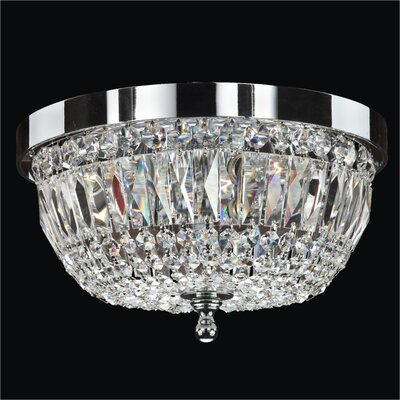 Lucia 3-Light Flush Mount Crystal: Danube Clear Crystal