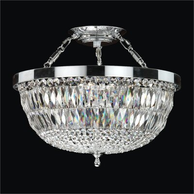Lucia 5-Light Semi-Flush Mount Size: 16.5 H x 16.5 W