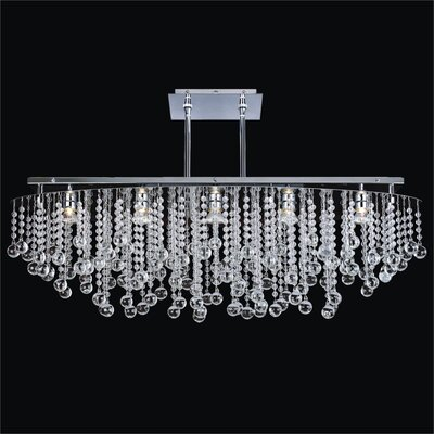 Crystal Rain 5-Light Duo Mount Pendant