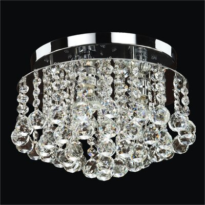 Prestige 3-Light Close Up Flush Mount Crystal: Danube Clear Crystal