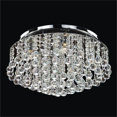 Prestige 4-Light Flush Mount Crystal: Signature Clear Crystal
