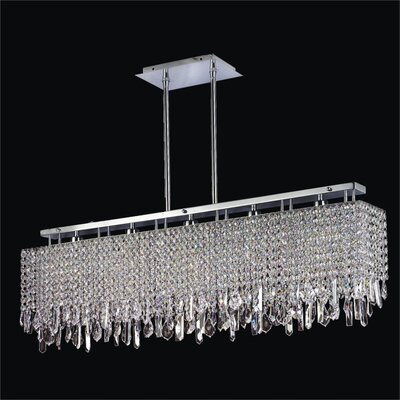 Innovations 5-Light Duo Mount Crystal Kitchen Island Pendant Crystal: Danube Clear Crystal