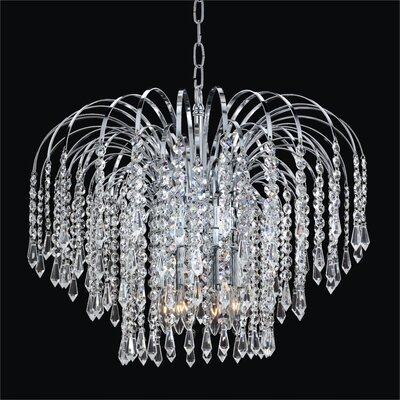 Cascade 6-Light Pendant Crystal: Signature Clear Crystal, Metal Finish: Silver Pearl