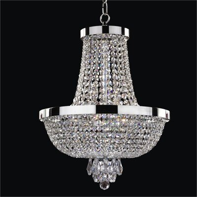 Modern Times 8-Light Empire Chandelier Crystal: Danube Clear Crystal