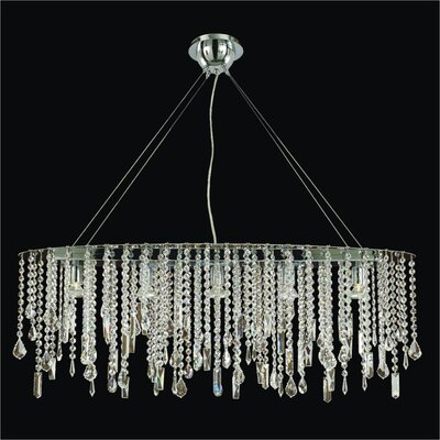 Divine Ice 5-Light Pendant Crystal: Danube Clear Crystal