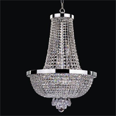 Modern Times 9-Light Empire Chandelier Crystal: Danube Clear Crystal
