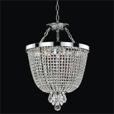Modern Times 3-Light Duo Mount Pendant Crystal: Signature Clear Crystal