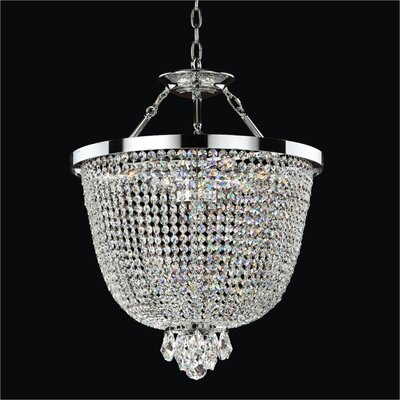 Modern Times 3-Light Duo Mount Pendant Crystal: Danube Clear Crystal