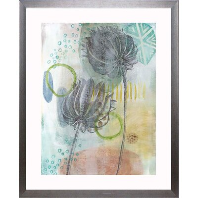 'Seed Pod Composition IV' Framed Watercolor Painting Print