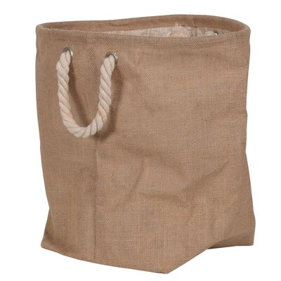 "Oddity Inc. Decorative Burlap Storage Bag - Size: 11"" H x 11"" W x 11"" D at Sears.com"