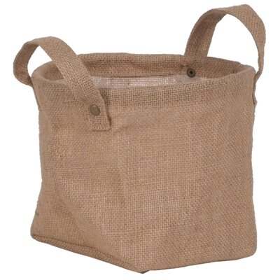 "Oddity Inc. Decorative Burlap Storage Bag - Size: 5.5"" H x 6.75"" W x 6.75"" D (Set of 2) at Sears.com"