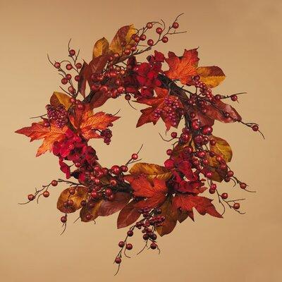 Berry Maple Leaves Hydrangea Fall Wreath