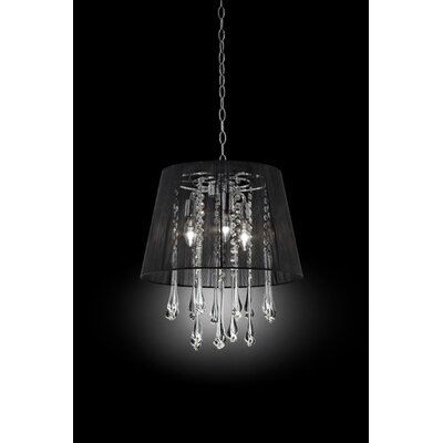 Nightfall Crystal Ceiling 3-Light Pendant
