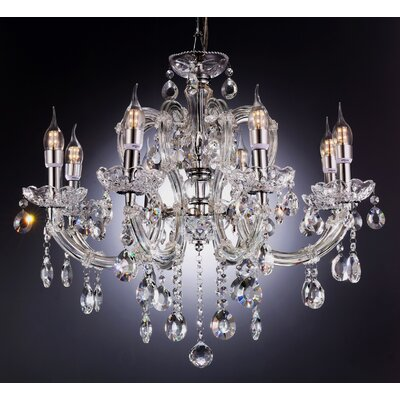 Fleur 8-Light Crystal Chandelier