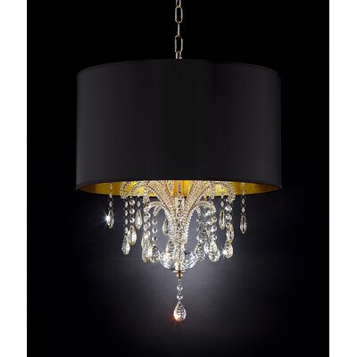 Bellissimo 3-Light Drum Chandelier