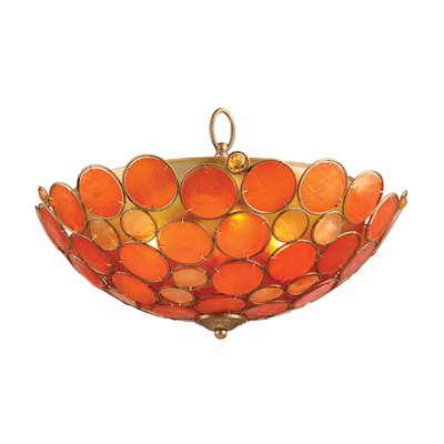 Capiz Shell 3-Light Flush Mount