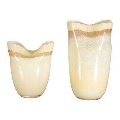 Limestone 2-Piece Glass Vase LG-5805-21