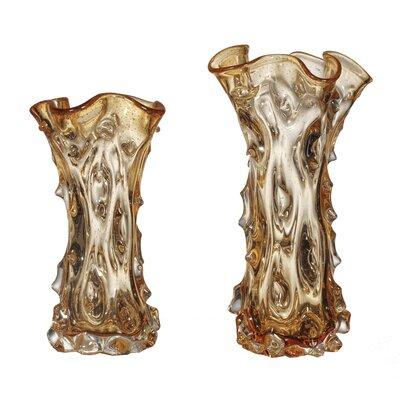 Ambre 2 Piece Glass Vase Set LG-5808-21