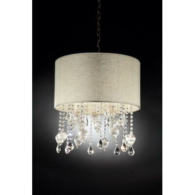 Drape 3-Light Crystal Drum Pendant