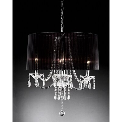 Ivaan 4-Light Drum Chandelier