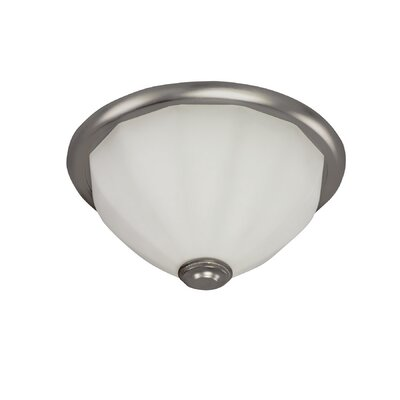 Facet 2-Light Flush Mount Finish: Satin Nickel