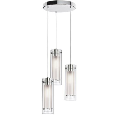 Orly 3-Light Kitchen Island Pendant Base Finish: Polished Chrome