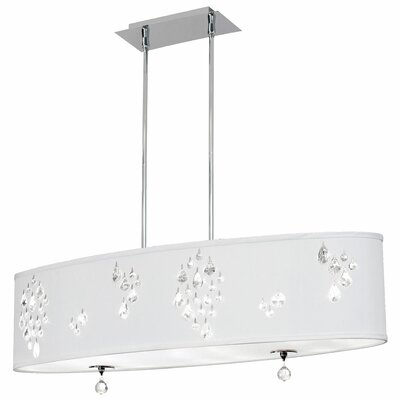 Rhiannon 8-Light Kitchen Island Pendant Shade Color: White