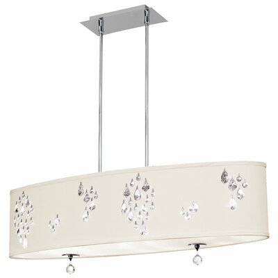 Rhiannon 8-Light Kitchen Island Pendant Shade Color: Ivory