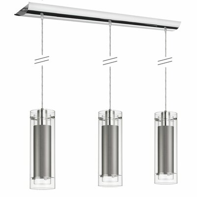 Orly 3-Light Kitchen Island Pendant Color: Steel