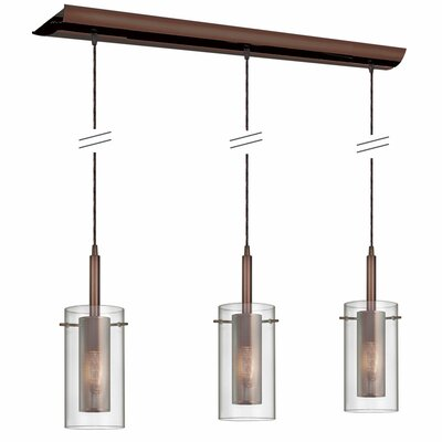 Orly 3-Light Kitchen Island Pendant Finish: Oil Brushed Bronze
