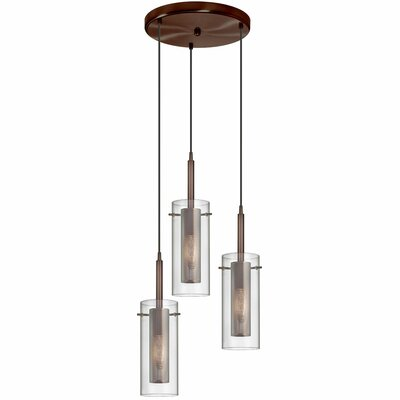 Orly 3-Light Cascade Pendant Finish: Oil Brushed Bronze
