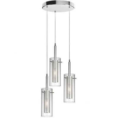 Orly 3-Light Cascade Pendant Finish: Polished Chrome