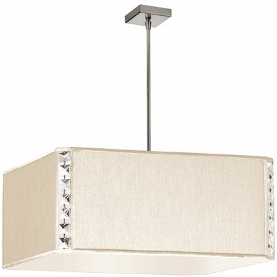 Elise 3-Light Mini Pendant Shade Color: Cream Silk Glow