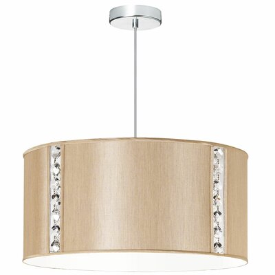 Elise 3-Light Drum Pendant Shade Color: Latte Silk Glow