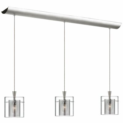 Industrial Chic 3-Light Kitchen Island Pendant