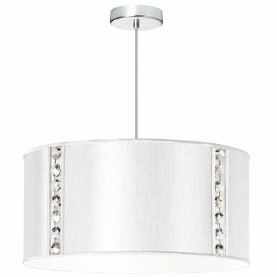 Elise 3-Light Drum Pendant Shade Color: Pearl Silk Glow