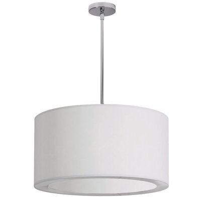 Jasmine 3-Light Drum Pendant Shade Color: White