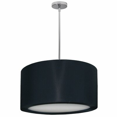 Jasmine 3-Light Drum Pendant Shade Color: Black