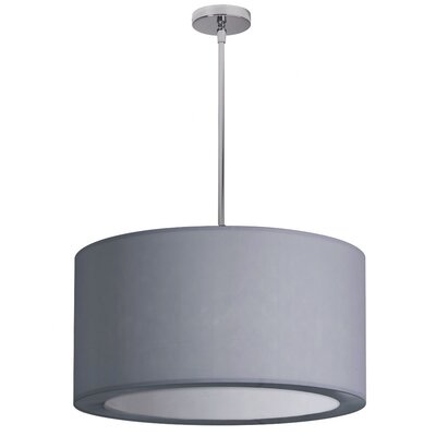 Jasmine 3-Light Drum Pendant Shade Color: Silver