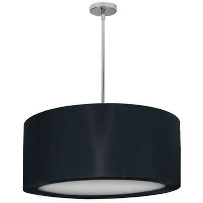 Jasmine 4-Light Drum Pendant Shade Color: Black