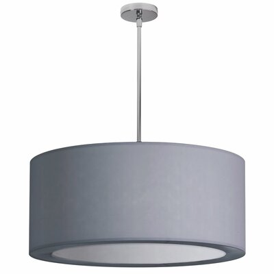 Jasmine 4-Light Drum Pendant Shade Color: Silver