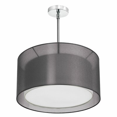Melissa 3-Light Drum Pendant Shade Color: Black