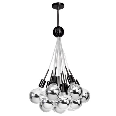 Industrial Chic 13-Light Cluster Pendant Finish: Black