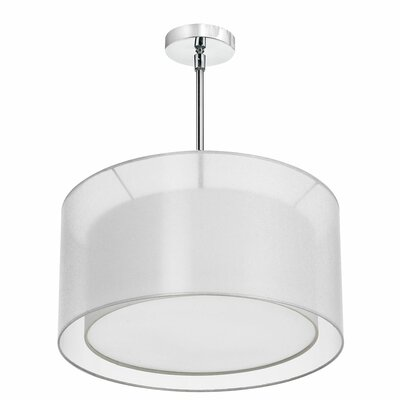 Melissa 3-Light Drum Pendant Shade Color: White