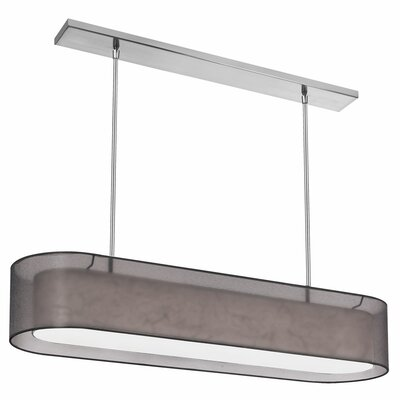 Melissa 4-Light Kitchen Island Pendant Shade Color: Black