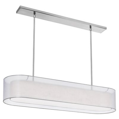 Melissa 4-Light Kitchen Island Pendant Shade Color: White