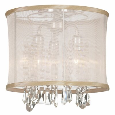 Bohemian 3-Light Semi Flush Mount Shade Color: Oyster Organza