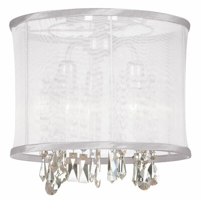 Bohemian 3-Light Semi Flush Mount Shade Color: White Organza