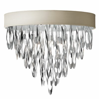 Allegro 4-Light Flush Mount Shade Color: Pebble