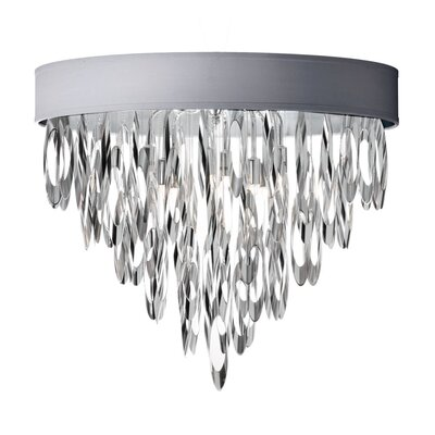 Allegro 4-Light Flush Mount Shade Color: Silver